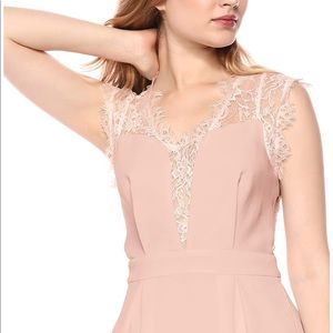 Dusty Pink Lace Inset Dress